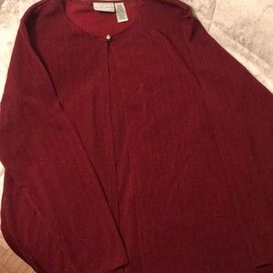 Sparkly Dark Red Dressy Blouse